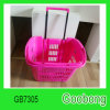 Portable Wheeled Plastic Shopping Supermarket Basket