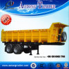 60 Tons 3 Axles Coal Transportation Rear Tipper Trailer