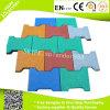 Dog Bone Shape Interlock Rubber Flooring Mats for Outdoor Children Playground Flooring Tiles