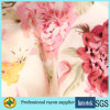 60s Pink Flower Printed Sexy Lady Dress Rayon Fabric