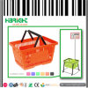 Super Market Double Handle Plastic Shopping Basket