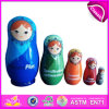 2014 Colorful Russia Matryoshka Wooden Dolls for Baby Toy, Factory W06D038
