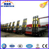 Crane Gooseneck Low Bed Loader Heavy Duty Hydraulic Trailer