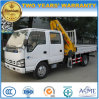 Isuzu Double Cab 2 Tons Foldable Crane Mounted with XCMG Truck