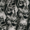 Tsau Top 1m Width Skull and Flame Hydro Transfer Printing Film