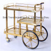 Titanium Stainless Steel Wine and Liquor Trolley/Service Trolley (SITTY 91.8102S)