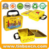 Top-Quality Metal Lunch Tin Storage Box with Handle for Gifts