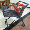 Wholesale Supermarket Plastic Shopping Trolley with Wheels