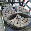 Rusty Slate Paving Stone Fan Shape Mesh Stone Outdoor Paving Slate Stone