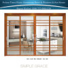 Brazil Jade Sandalwood Colour Thermal Break Aluminum Sliding Doors