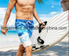 4 Way Fabric Board Shorts, The Letter Printing Beach Shorts for Man