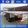2 Axle 40ft Flatbed Container Transport Semi Trailer