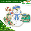 Customized Shiny Silver Plated Oil-Filled Christmas Lapel Pin (B 619)