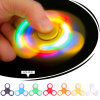 Hand Finger Spinner Fidget LED Light Plastic EDC Hand Spinner LED for Autism Relief Focus Anxiety Tri-Spinner