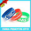 Ink Filled 1 Inch Wristbands Wide Silicone Wrist Band (TH-08510)