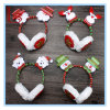 Christmas Head Hoop Headset Big Red Antlers Button Head Hairpin Ear Cover GIF