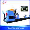 Heavy Type Round Pipe CNC Cutting Machine Plasma/Flame Currer