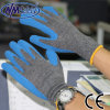 Nmsafety Cheap Recycle Polyester Latex Coated Work Gripper Gloves