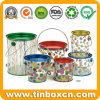 Custom Tinplate Transparent Clear PVC Tin Bucket & Pail for Candy Chocolate