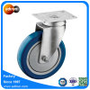 100kg Bearing Capacity 5inch Blue PU Quiet Caster Wheel