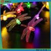Solar-Powered LED Line Light Dragonfly Decoration for Christmas