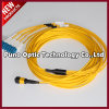 Mini OS2 MPO Fiber Optic Cable Single Mode Male to Male LSZH Plenum Round Cable