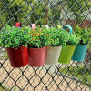 Metal Garden Decoration Hanging Wall Mounted Flower Pot