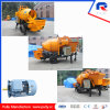 Electric Mini Trailer Concrete Pump with Drum Mixer for Sale