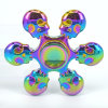 Skull Hand Spinner Rainbow Colorful Six-Arm Ghost Skull Fidget Spinner