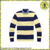 High Quality Cotton Long Sleeve Custom Striped Polo Shirt for Men