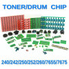 Toner/Drum Chip for Xerox Printer Docucolor 240/242/250/252/260/7655/7675