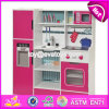 New Design Children Pretend Play Toys Wooden Red Play Kitchen W10c282