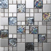 Iridescent Glass Miixed Metal Mosaic C5A073-42