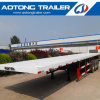 40 Feet Flatbed Semi Trailer, Tri Axle Container Semi Trailer