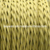 Putty Cotton Braided Twisted Cable, Electrical Power Cord, Lamp Wire