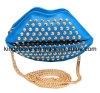 Blue PU with Studs Cosmetic Bag (KCC127)
