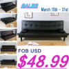 2014 Leather Promotion Sofa Bed