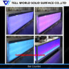 Modern LED Lighted Counter Commercial Bar Counter Design Faux Stone Bar Counter