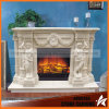 Natural Marble Fireplace Surround Statues Fireplace Mantel Mf1726