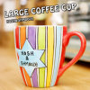 Colorful Design Glaze Mug, Customzied Stoneware Mug