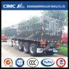 Cimc Huajun 3axle Stake/Cargo Semi Trailer with Rear Door