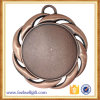 Customized 2017 3D Bronze Sports Medal with Plain Lanyard