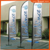 3PCS Custom Knife Feather Flag for Outdoor or Event Advertising or Sandbeach (Model No.: QZ-024)