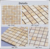 Square Natural Travertine Beige Yellow Marble Mosaic