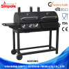 2 Wheel Wholesale Barbecue Gas BBQ Grills Stainless Steel