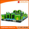 Outdoor Giant Terror Green Halloween Inflatable Obstacle (T6-204)