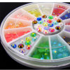 Decoration Nail Acrylic Nail Supplies UV Gel Nail Tips Charms + Wheel Beads DIY Wholesale