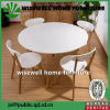 5PC Modern Wood Round Dining Table with Chair