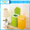 Press Type Desktop Plastic Waste Bin