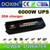 Double LED Display 6000W for pump off-grid inverter 6kw DC to AC power inverter with UPS & Charger (DXP6000WUPS-20A)
